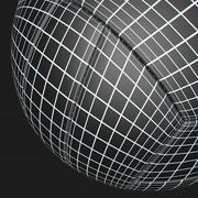 Prata de voleibol fundido preto 3d model