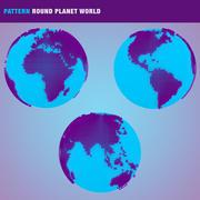 Patrón redondo planeta mundo modelo 3d