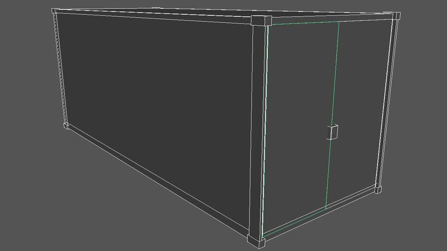 运输集装箱 royalty-free 3d model - Preview no. 3