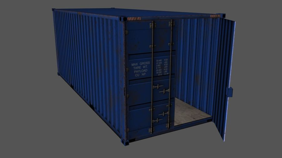 Shipping Container royalty-free 3d model - Preview no. 2