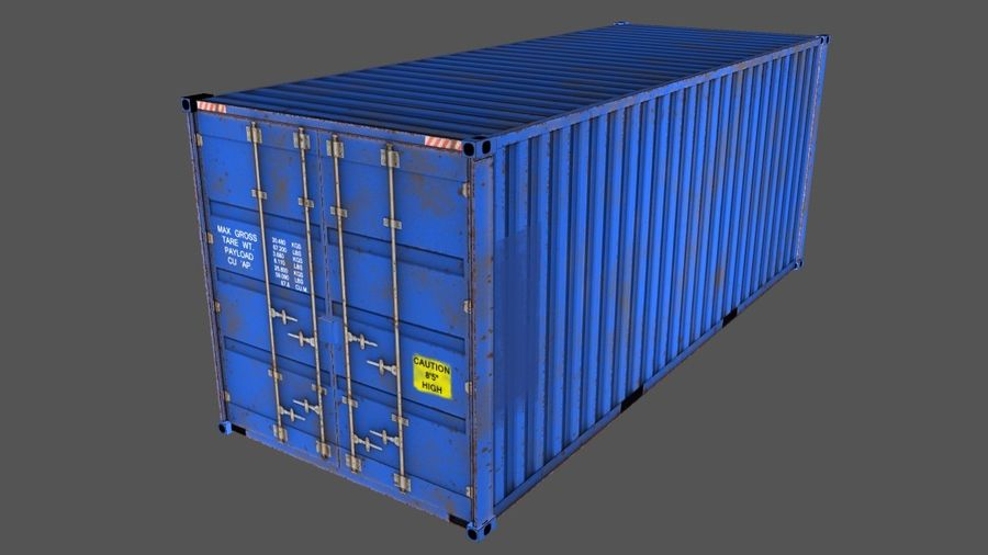 Shipping Container royalty-free 3d model - Preview no. 1
