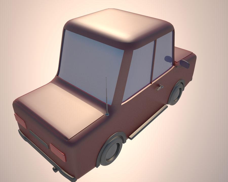 Cartoon car(1) royalty-free 3d model - Preview no. 5