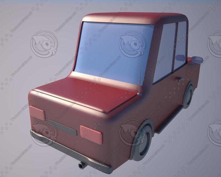 Cartoon car(1) royalty-free 3d model - Preview no. 2