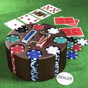 Poker Chip Karussell 3d model