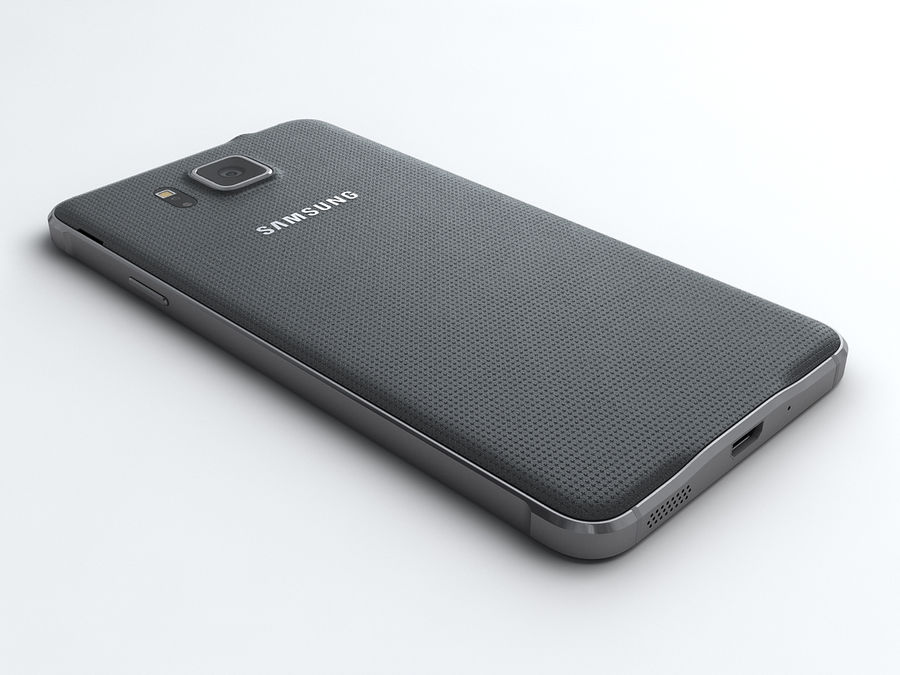Samsung Galaxy Alpha royalty-free 3d model - Preview no. 4