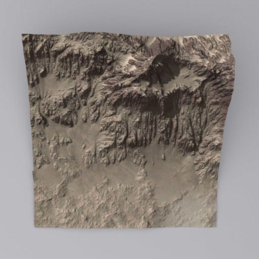 Montanha do Oriente Médio royalty-free 3d model - Preview no. 2