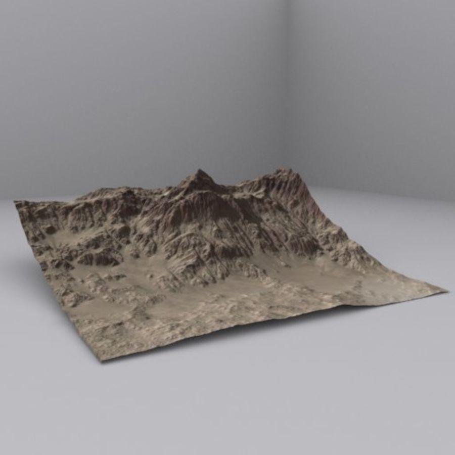 Montanha do Oriente Médio royalty-free 3d model - Preview no. 1