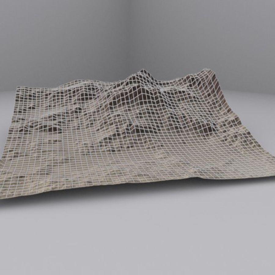 Montanha do Oriente Médio royalty-free 3d model - Preview no. 3