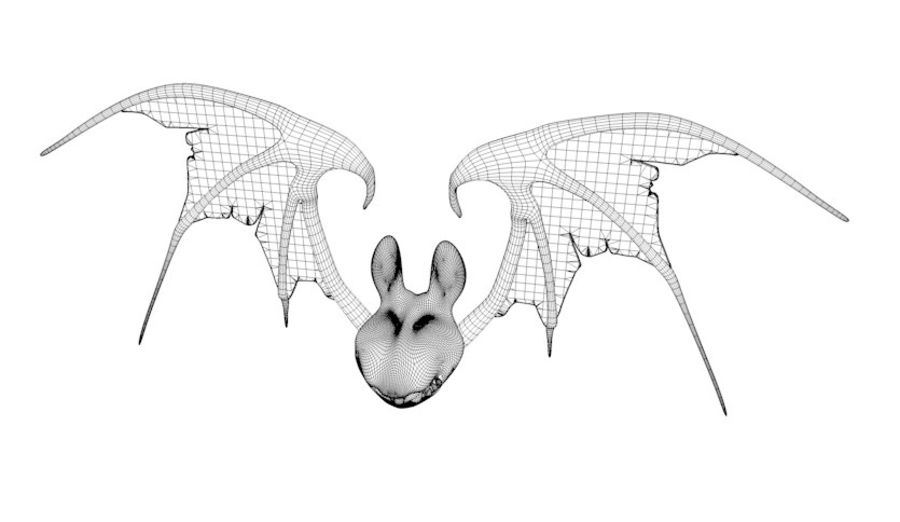 Fledermaus royalty-free 3d model - Preview no. 5