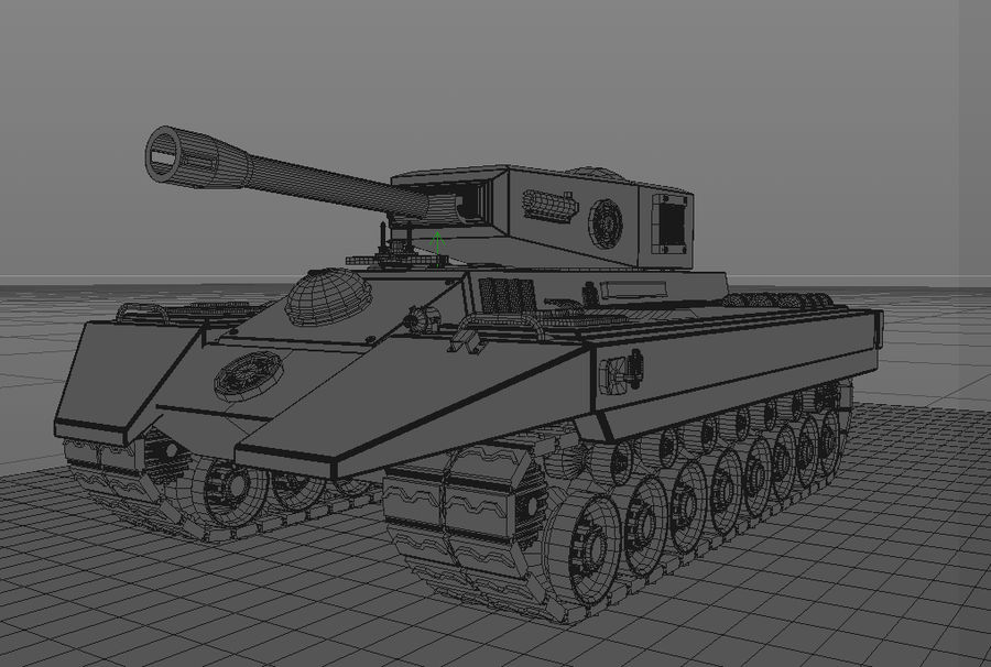 Tankoorlog royalty-free 3d model - Preview no. 4