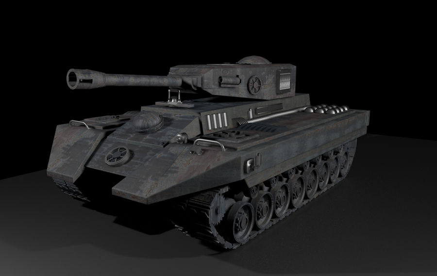 Tank War royalty-free 3d model - Preview no. 2