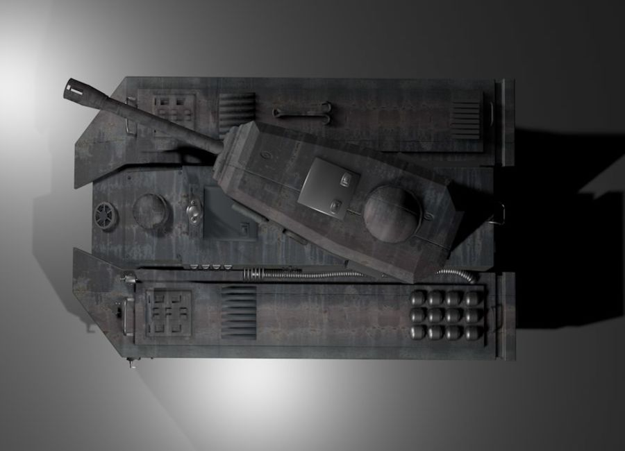 Tank War royalty-free 3d model - Preview no. 3