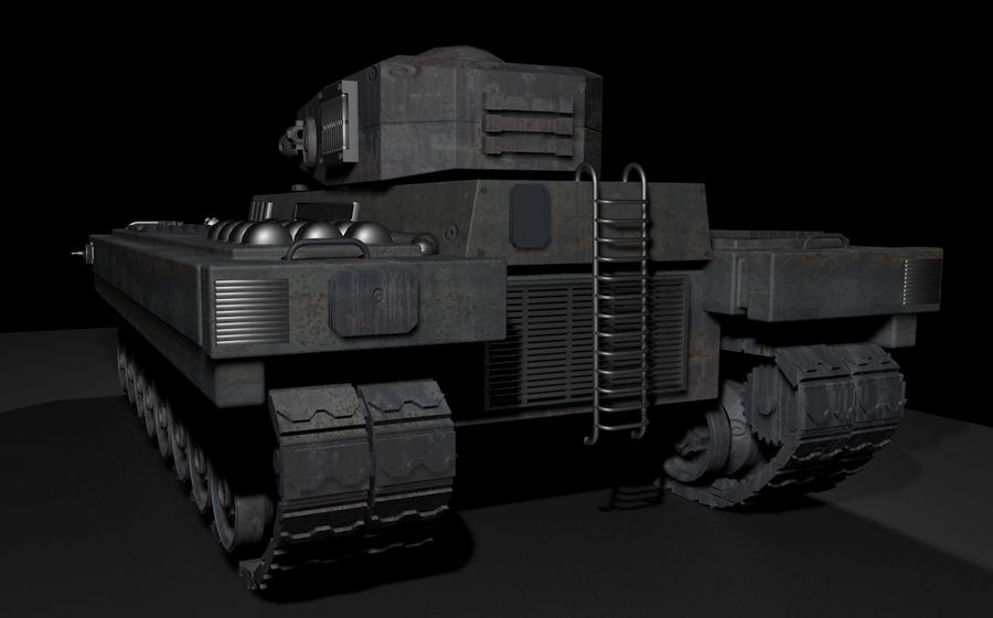 Tank War royalty-free 3d model - Preview no. 5