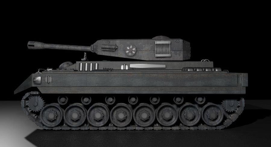 Tank War royalty-free 3d model - Preview no. 1