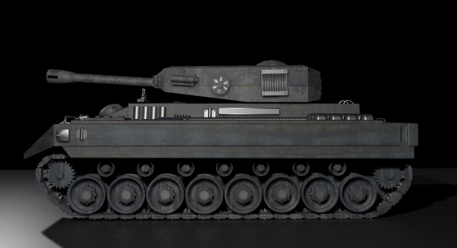 Tankoorlog royalty-free 3d model - Preview no. 1