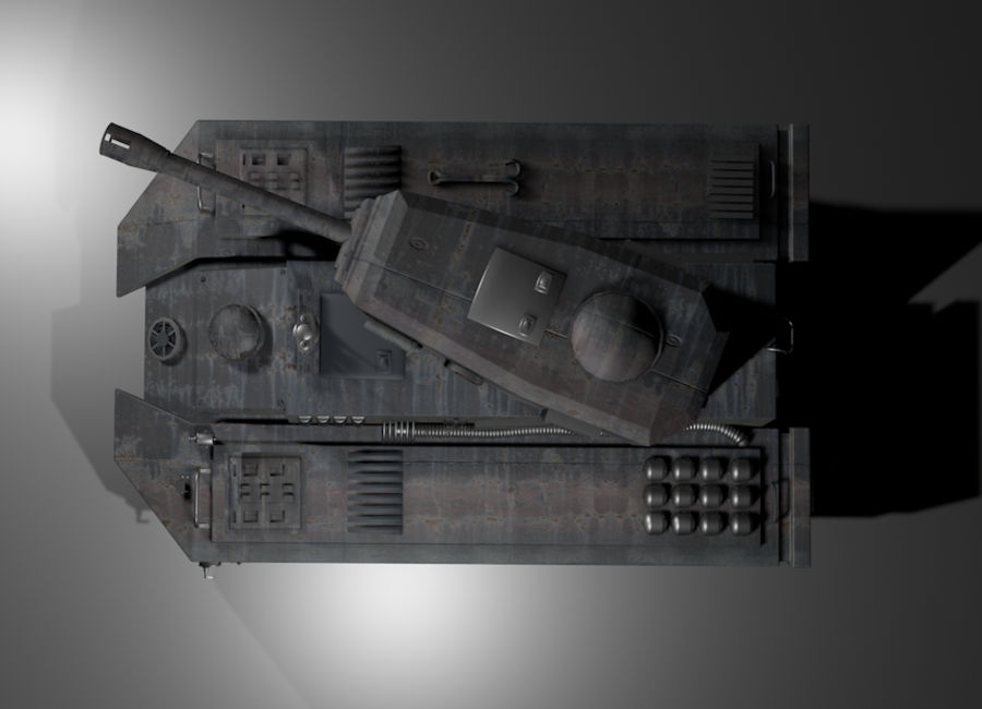 Tank War royalty-free 3d model - Preview no. 3
