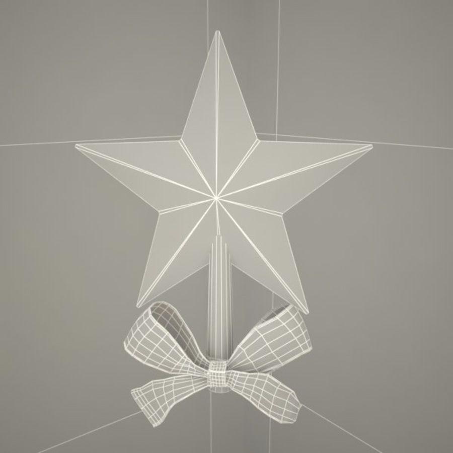 Étoile arbre noël royalty-free 3d model - Preview no. 4