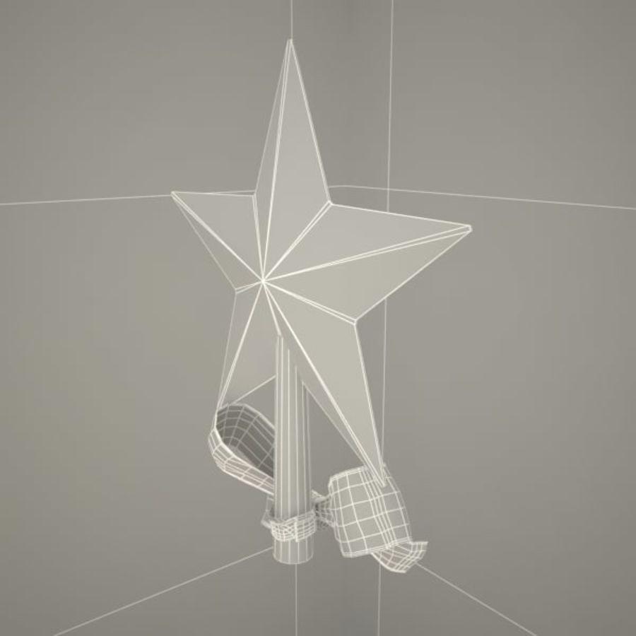 Étoile arbre noël royalty-free 3d model - Preview no. 5
