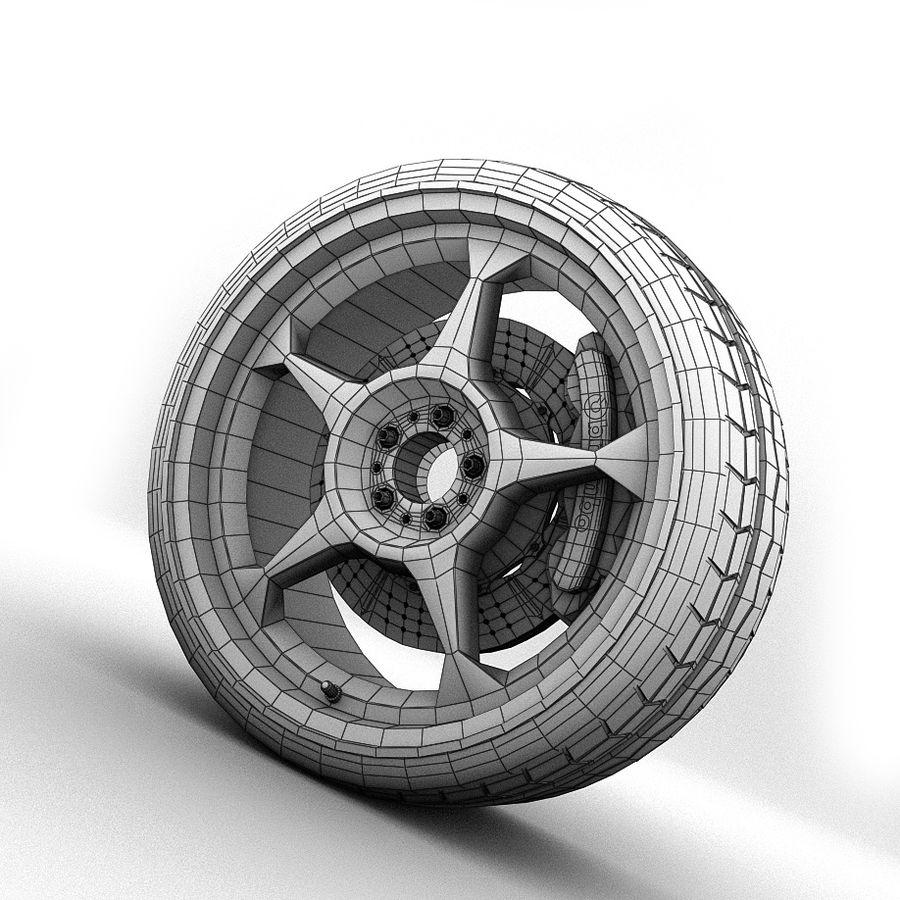 Car Wheel royalty-free 3d model - Preview no. 8