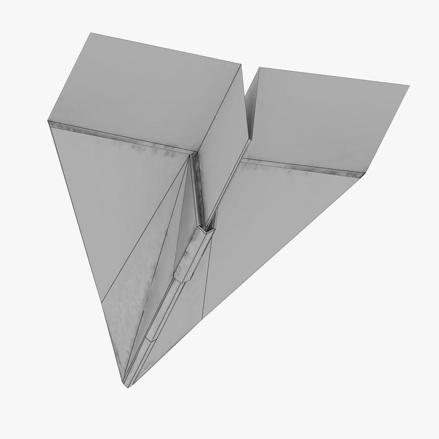Paper Plane royalty-free 3d model - Preview no. 13