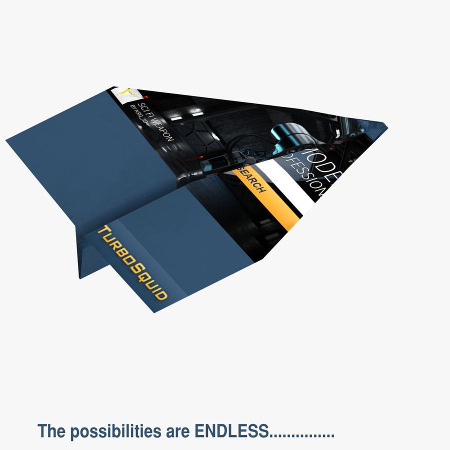 Paper Plane royalty-free 3d model - Preview no. 7