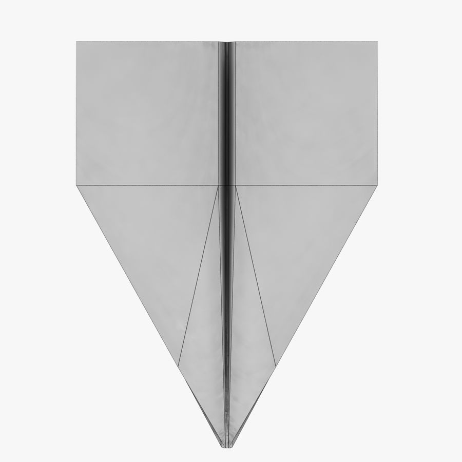 Paper Plane royalty-free 3d model - Preview no. 9