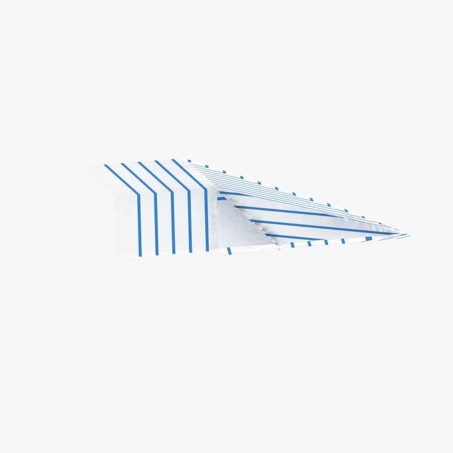 Paper Plane royalty-free 3d model - Preview no. 5