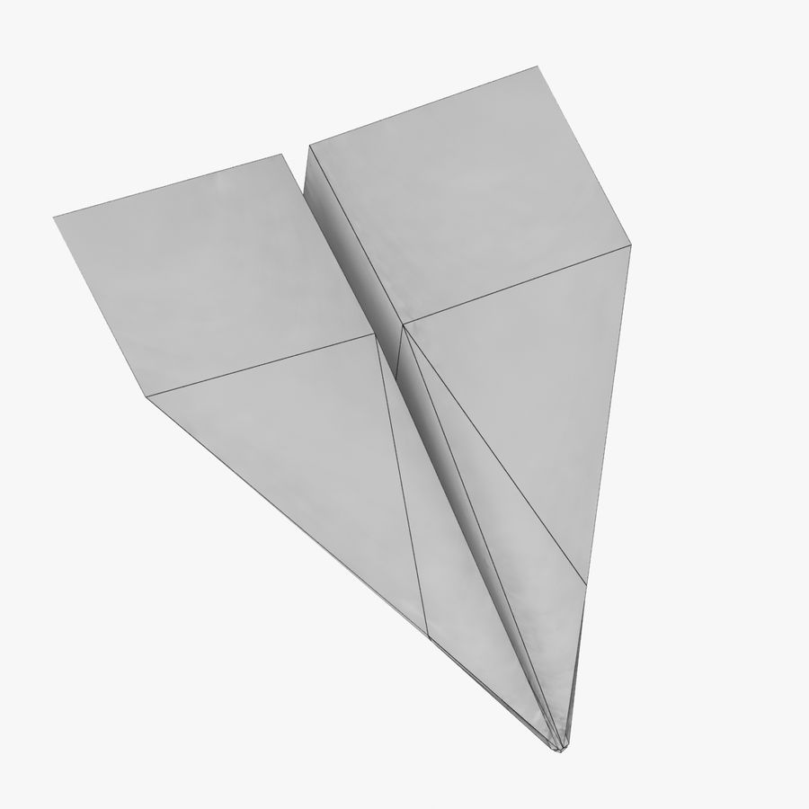 Paper Plane royalty-free 3d model - Preview no. 8
