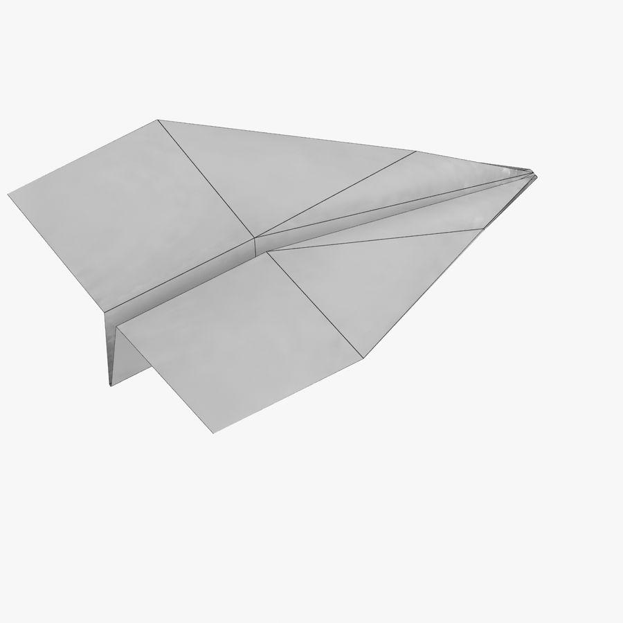 Paper Plane royalty-free 3d model - Preview no. 10