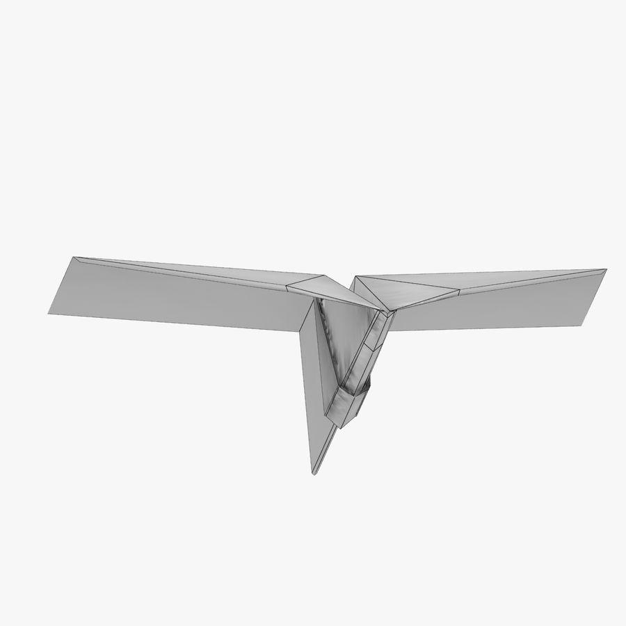 Paper Plane royalty-free 3d model - Preview no. 11