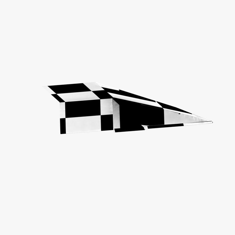 Paper Plane royalty-free 3d model - Preview no. 15