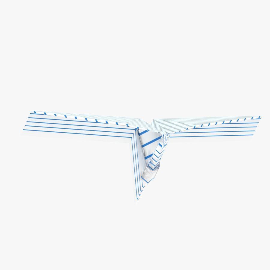 Paper Plane royalty-free 3d model - Preview no. 4