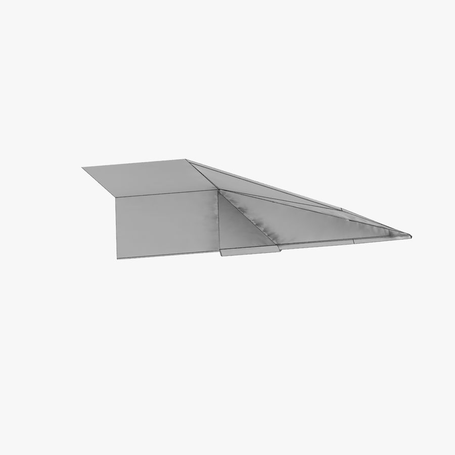 Paper Plane royalty-free 3d model - Preview no. 12