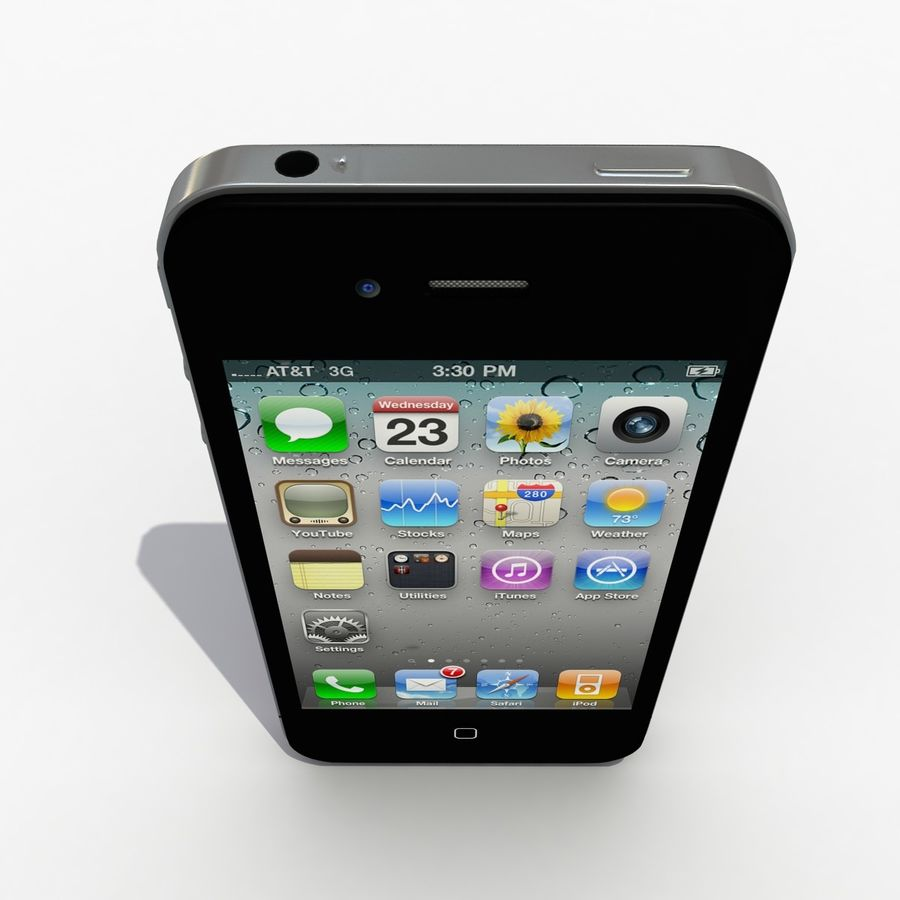 Iphone royalty-free 3d model - Preview no. 6