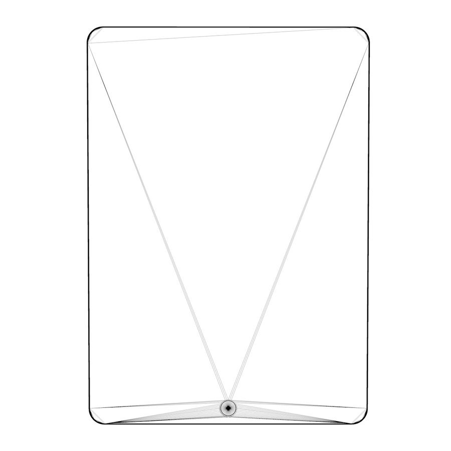 Apple iPad Air 2 Weiß (Silber) royalty-free 3d model - Preview no. 12