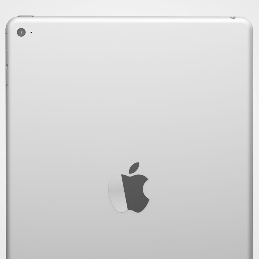 Apple iPad Air 2 Weiß (Silber) royalty-free 3d model - Preview no. 7