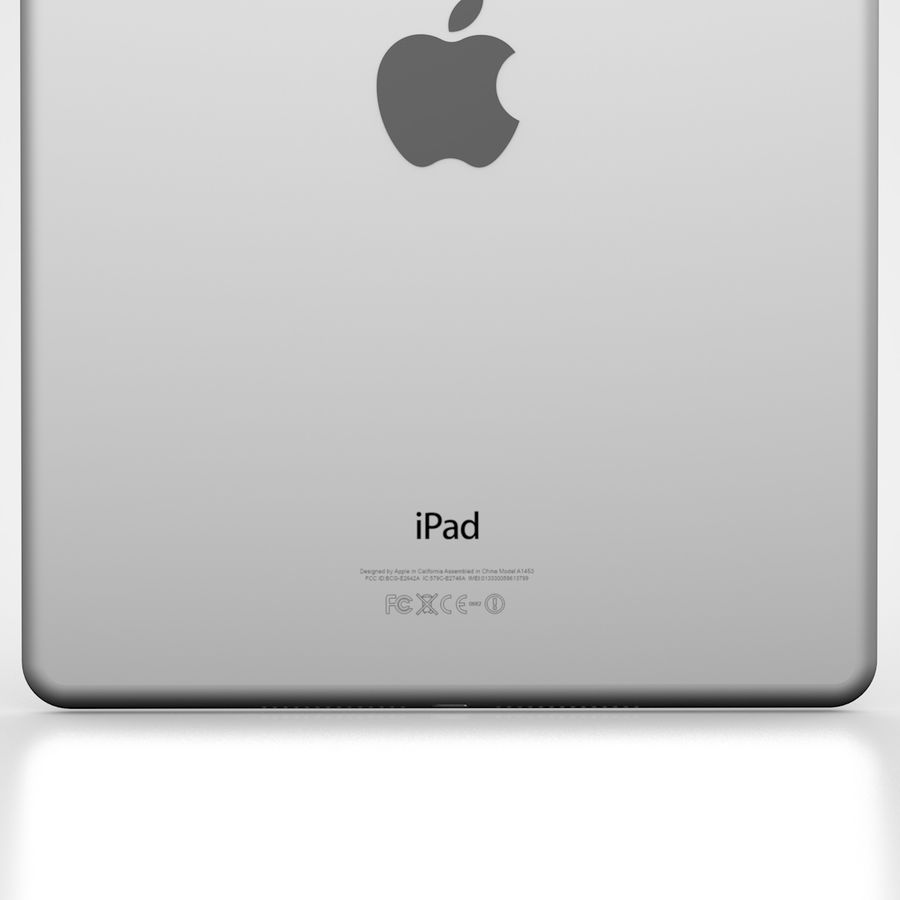 Apple iPad Air 2 Weiß (Silber) royalty-free 3d model - Preview no. 8