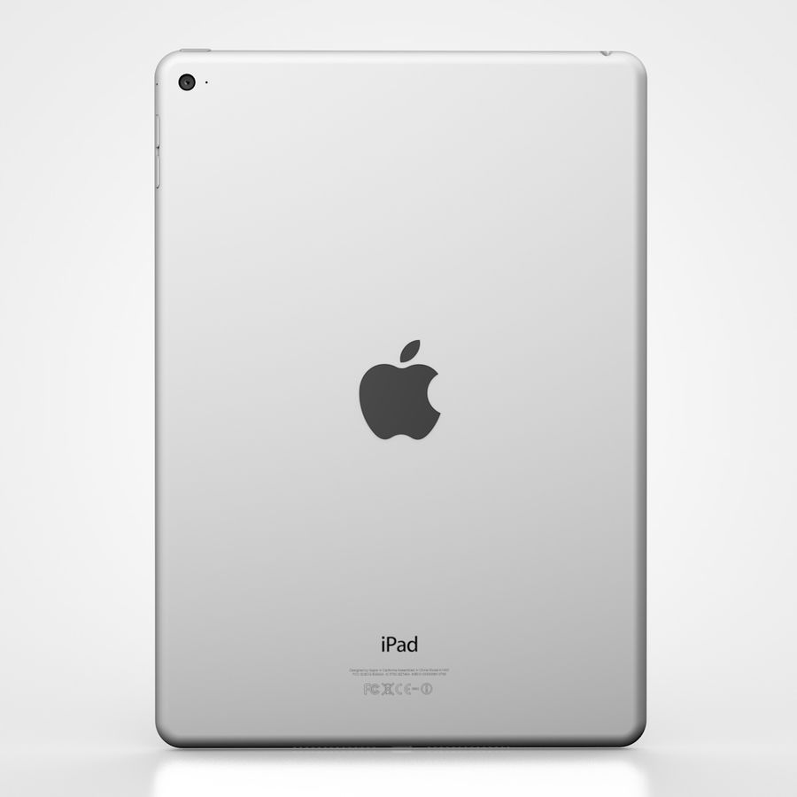 Apple iPad Air 2 Weiß (Silber) royalty-free 3d model - Preview no. 3