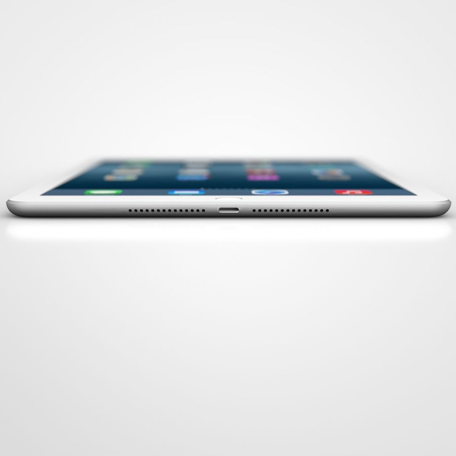Apple iPad Air 2 Weiß (Silber) royalty-free 3d model - Preview no. 4