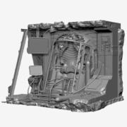 Nawigacja po kapsułkach 3d model