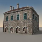 Italiaans gebouw 005 3d model