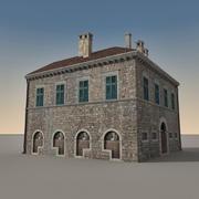 Italian Building 007 3d model