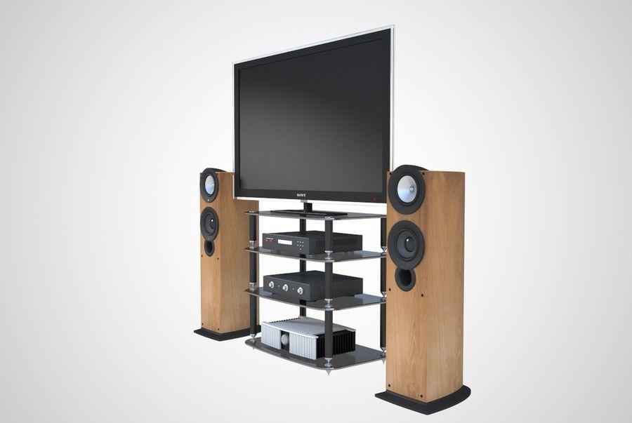 Entertainment centre royalty-free 3d model - Preview no. 3