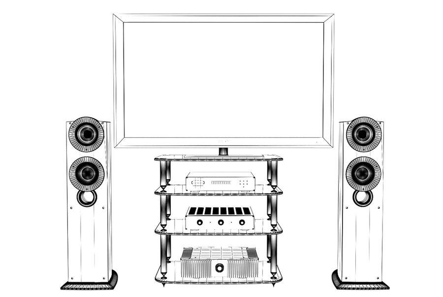 Entertainment centre royalty-free 3d model - Preview no. 5