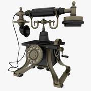 古董电话 3d model