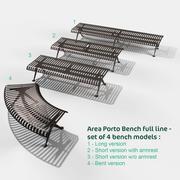 Ławka Porto kompletna linia 3d model