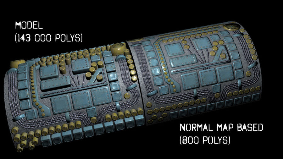 Panel with parts - engine machinery royalty-free 3d model - Preview no. 1