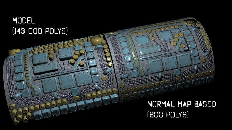 Paneel met onderdelen - motormachines royalty-free 3d model - Preview no. 1