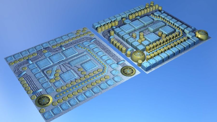 Parçaları olan panel - motor makinaları royalty-free 3d model - Preview no. 5