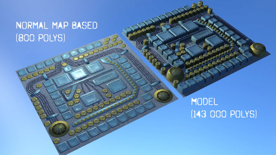 Panel with parts - engine machinery royalty-free 3d model - Preview no. 4